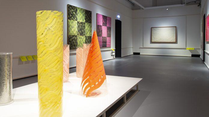 Inside Carla Accardi's exhibition photo credits Robeto Pini