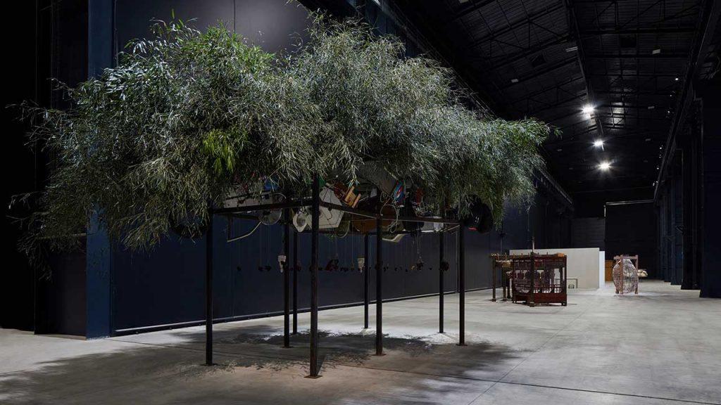 Materials by Chen Zhen at Pirelli HangarBicocca, in Milan