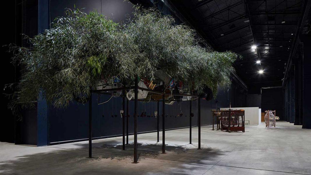Materials by ChenZhen - Bamboo, at Pirelli HangarBicocca, in Milan