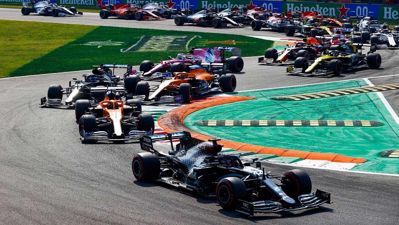 A shot from the Gran Premio d'Italia Heineken 2020