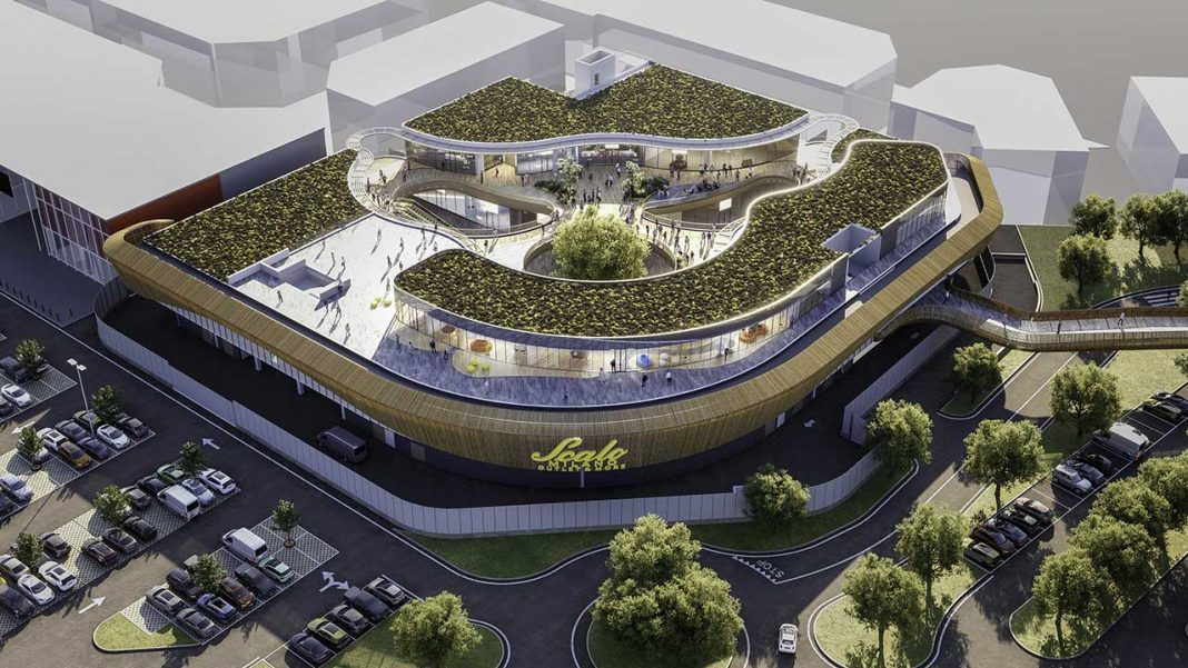 A rendering of the future restyling of Scalo Milano Outlet & More
