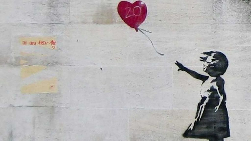 Banksy, Girla and Heart Balloon (c) Banksy