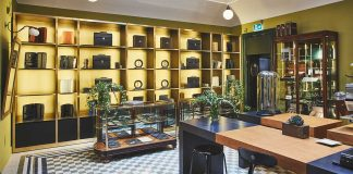 The Pineider flagship store in Milan