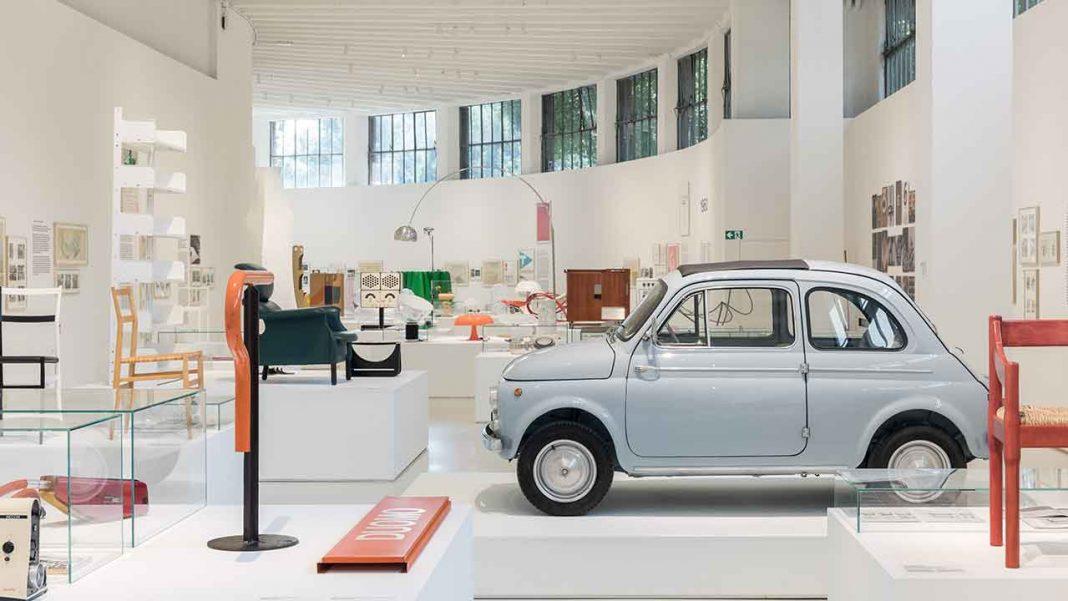 FIAT Nuova 500 D runabout at Museo del Design Italiano © Triennale Milano - photo credits Gianluca Di Ioia
