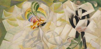 Giacomo Balla. Spazio Iridente. 1918, oil on canvas