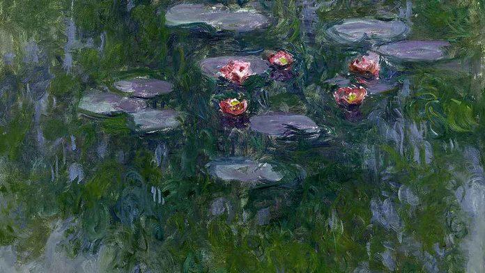 Claude Monet (1840-1926) Nymphéas, vers 1916-1919 Huile sur toile, 130 x 152 cm Paris, musée Marmottan Monet, legs Michel Monet, 1966 Inv. 5098 © Musée Marmottan Monet, Académie des beaux-arts, Paris
