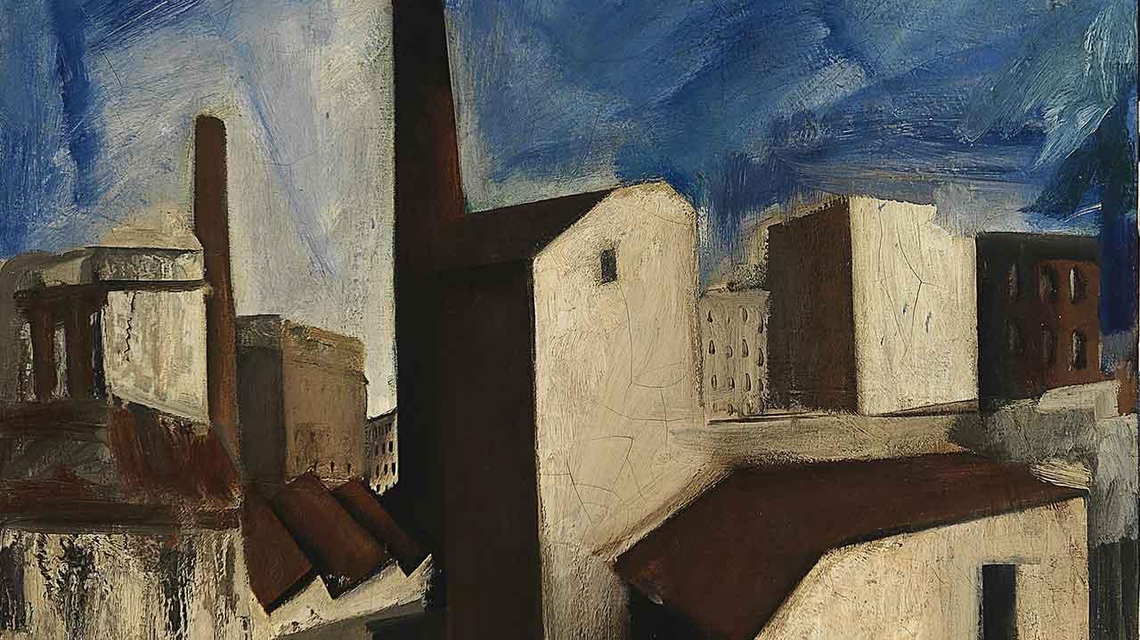 A detail of Mario Sironi's Paesaggio Urbano, 1925-28 - © by SIAE 2021