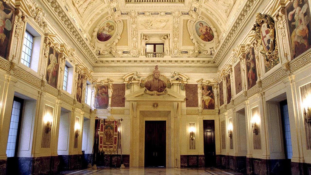 Sala Alessi, inside Palazzo Marino, the seat of Milan's municipality